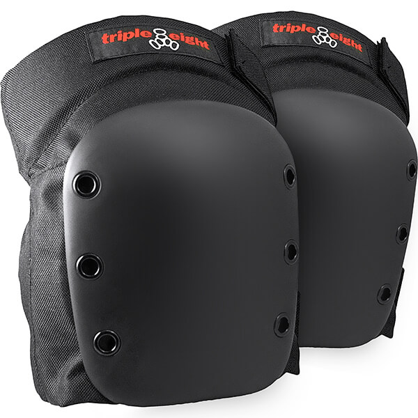 Triple 8 Street Black Knee Pads - Large