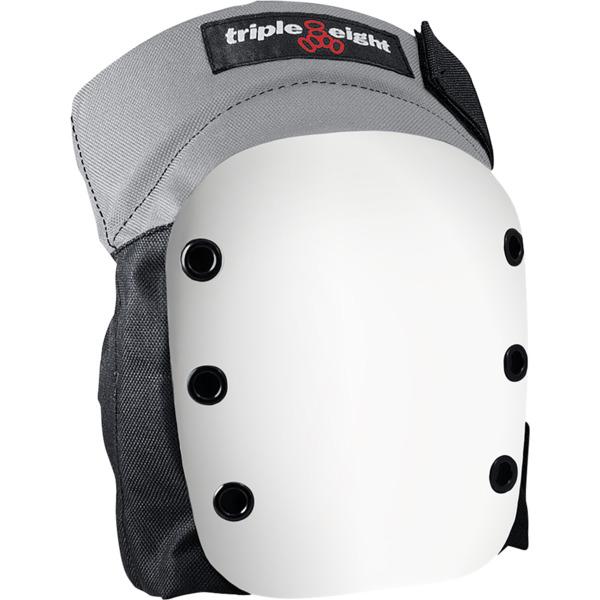 Triple 8 Street Black w/ White Caps Knee Pads - Large