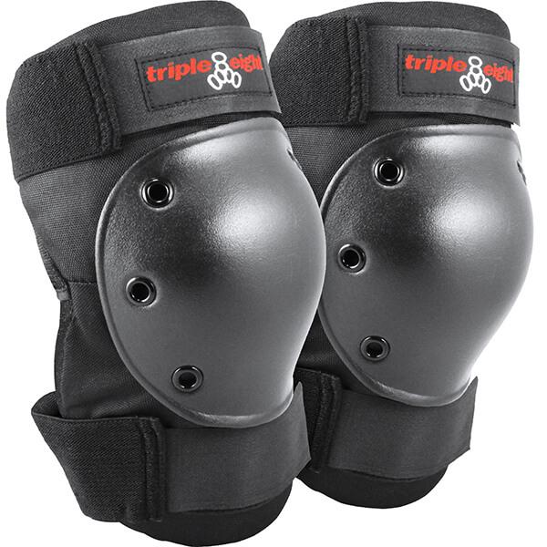 Triple 8 Kneesaver Black Knee Pads - One size fits most