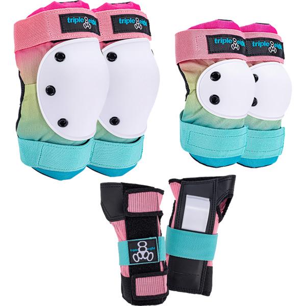 Triple 8 Saver Series 3-Pack Shaved Ice Knee, Elbow, & Wrist Pad Set - Large