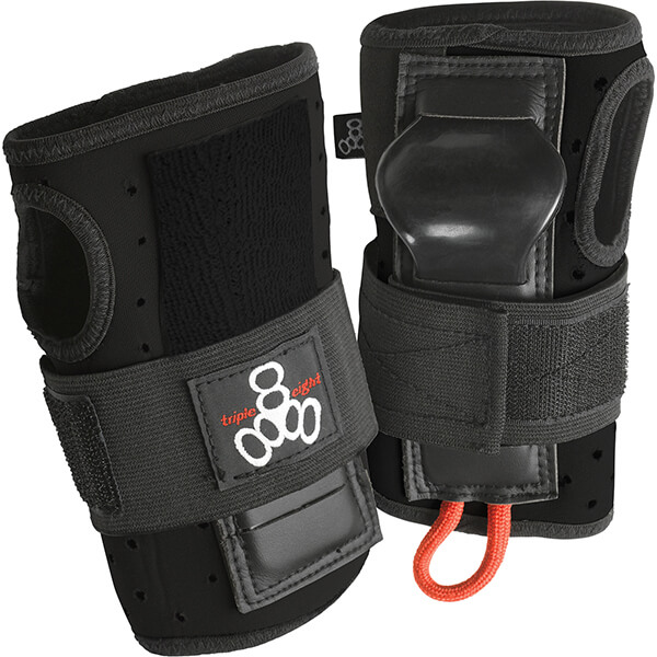 Triple 8 Roller Derby Wristsaver Black Wrist Guards - Small