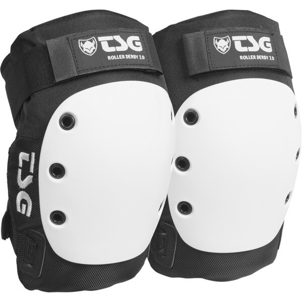 TSG Roller Derby Black / White Knee Pads - X-Small