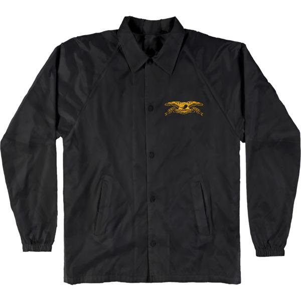 Anti Hero Skateboards Stock Eagle Patch Black / Yelow Men's Jacket - Large