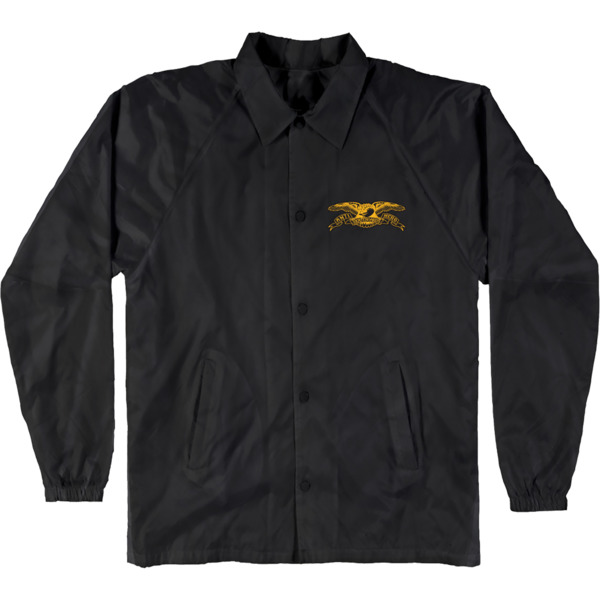 Anti Hero Skateboards Stock Eagle Patch Black / Yelow Men's Jacket - X-Large