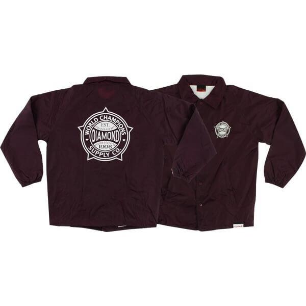 Diamond Supply Co World Renowned Coaches Jacket