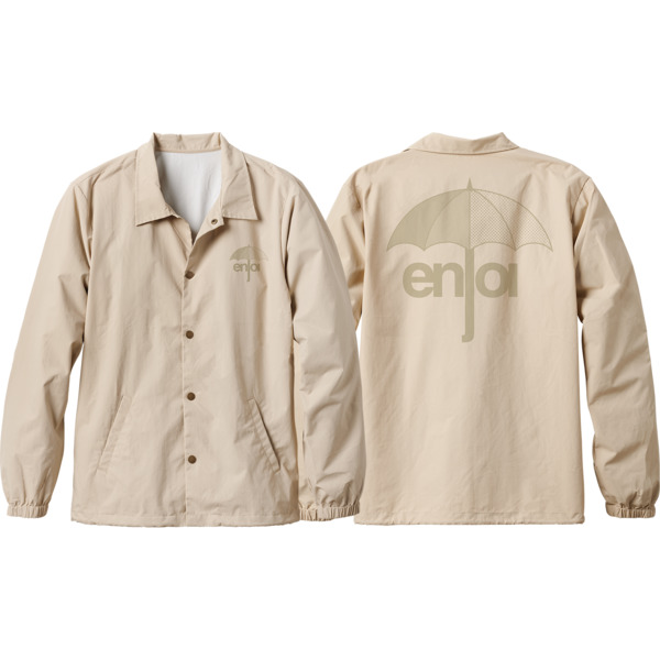 Enjoi Skateboards Tonal Umbrella Khaki Coaches Jacket - Medium