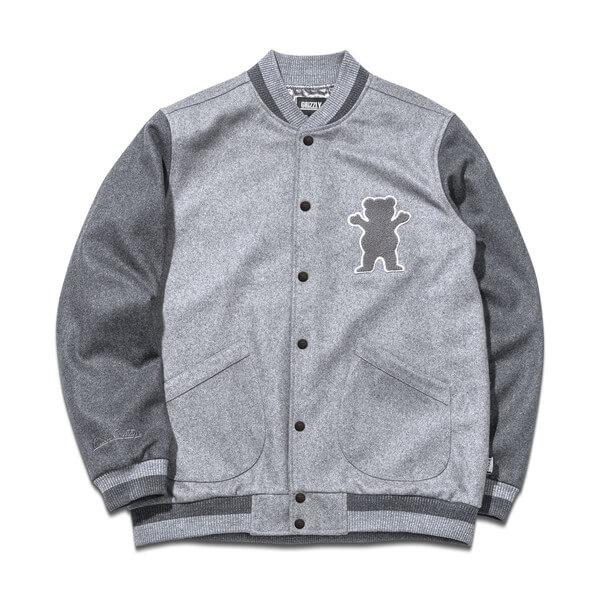 Grizzly Grip Tape Silvertip Wool Varsity Jacket