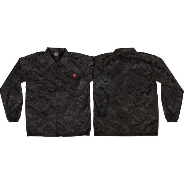 Independent Chadwick 3D Black Camo Windbreaker Coaches Jacket - Small
