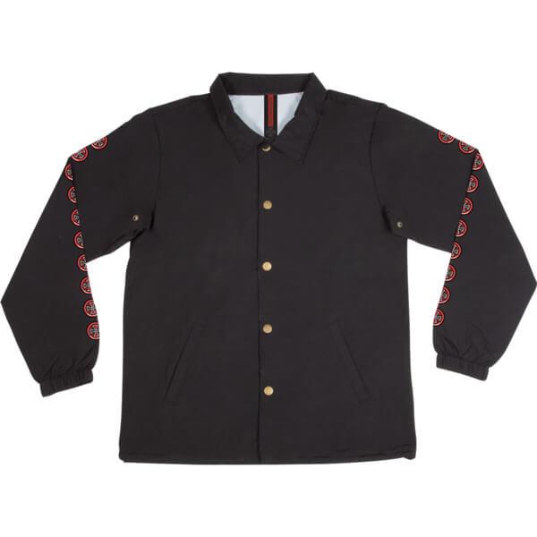 Independent Quatro Black Windbreaker Coaches Jacket - Small