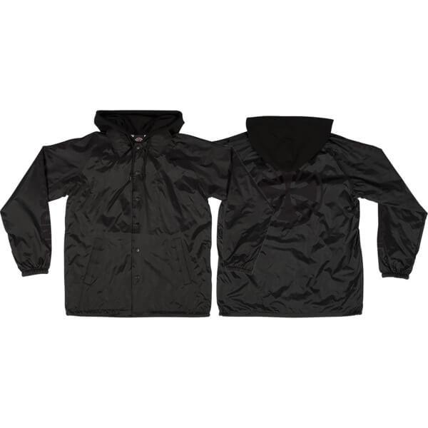 Independent Tonal Bar Black Windbreaker Coaches Jacket - X-Large