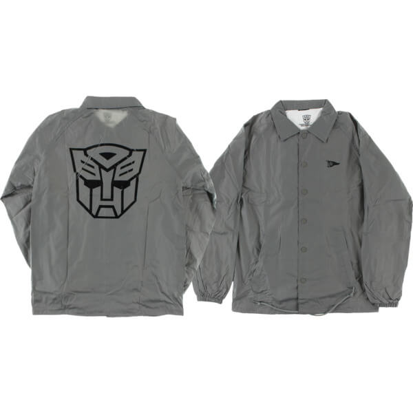 Primitive Skateboarding Autobots Grey Coaches Jacket - Large