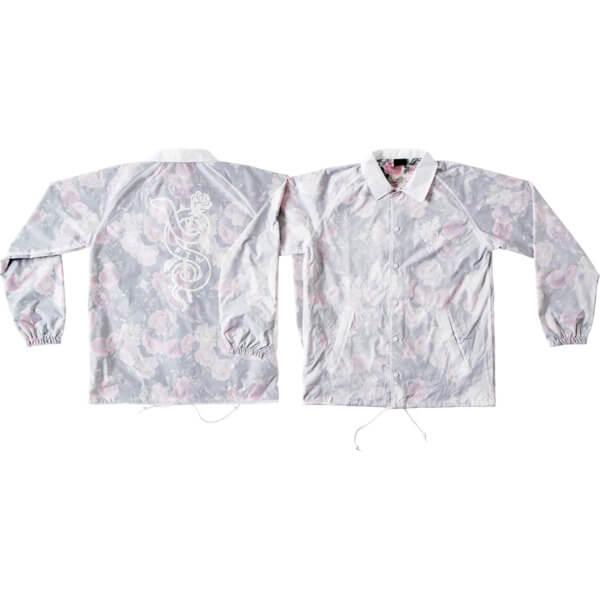 Real Skateboards Bloom Transparent White / Floral Windbreaker Jacket - Large