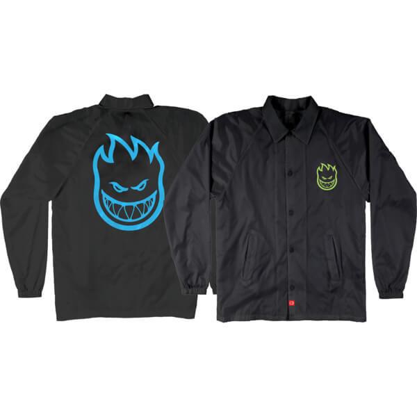 Spitfire Wheels Bighead Double Black / Green / Blue Youth Jacket - Medium