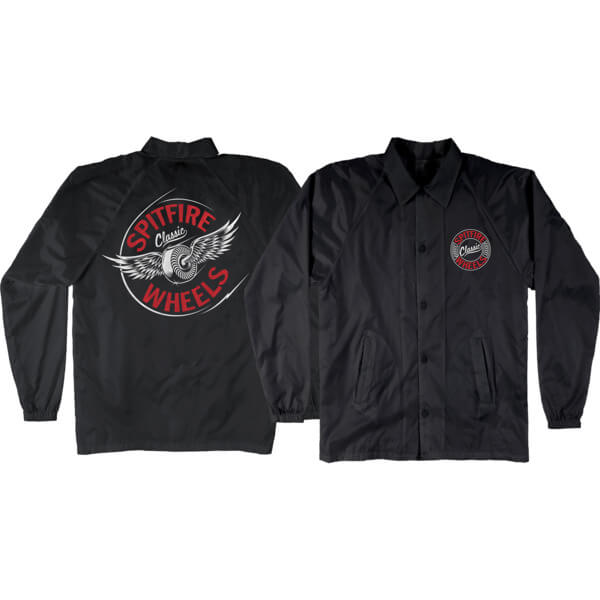 Spitfire Wheels Flying Classic Black / Red Men's Jacket - Small