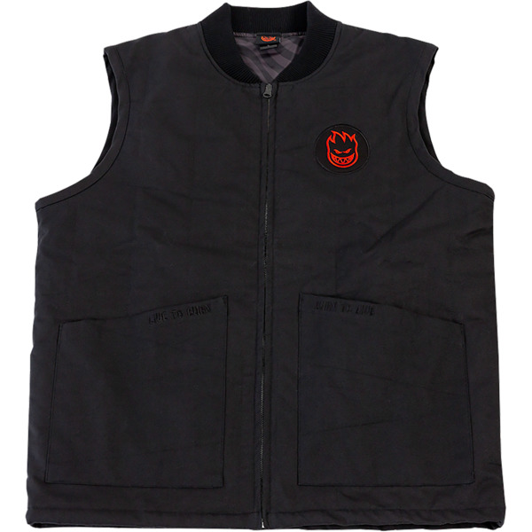Spitfire Wheels LTB Patch Black / Red Patch Vest - Small