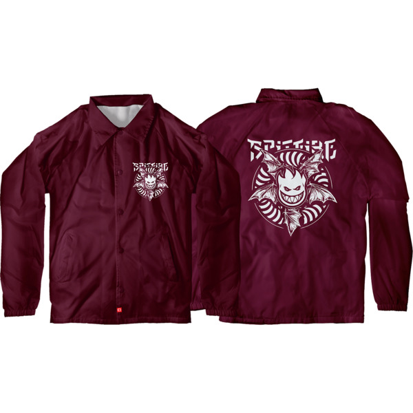 Spitfire Wheels Nocturnus Maroon / White Coaches Jacket - Small
