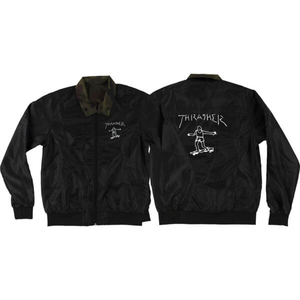 Thrasher Magazine Gonz Reversible Black / Camo Coaches Jacket - Small