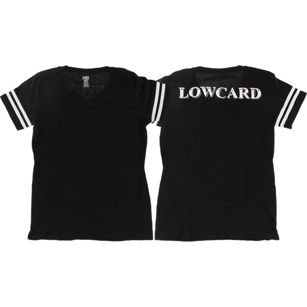 Lowcard Mag She Blitz Jersey Black Girl's Short Sleeve T-Shirt - Large