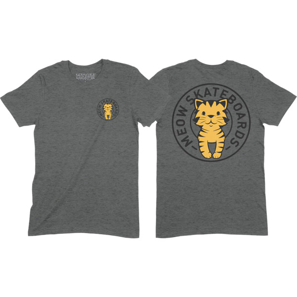 Meow Skateboards Tabby Seal Dark Heather Grey Women's T-Shirt - Small