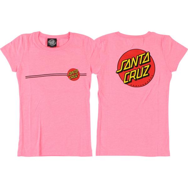 Santa Cruz Skateboards Classic Dot Fitted Girl's Short Sleeve T-Shirt