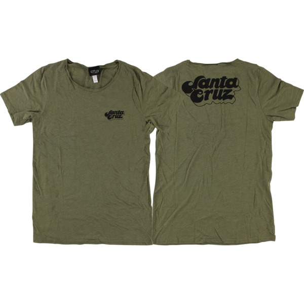 Santa Cruz Skateboards Boyfriend Olive Triblend Women's T-Shirt - Medium