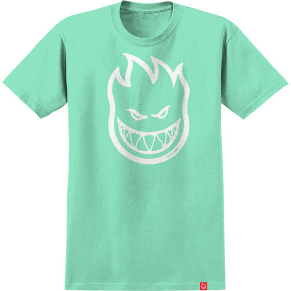 Spitfire Wheels Bighead Mint / White Girl's Short Sleeve T-Shirt - Medium