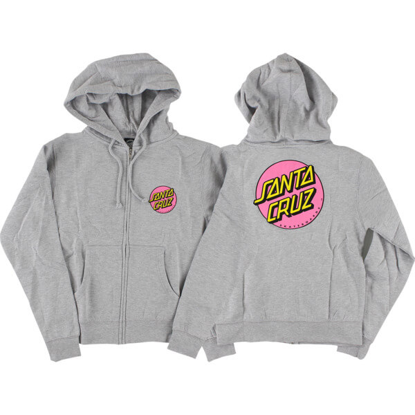 Santa Cruz Skateboards Other Dot Grey Heather Girls Zip