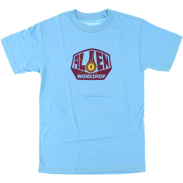 Alien Workshop OG Logo Carolina Blue / Burgundy Men's Short Sleeve T-Shirt - Medium