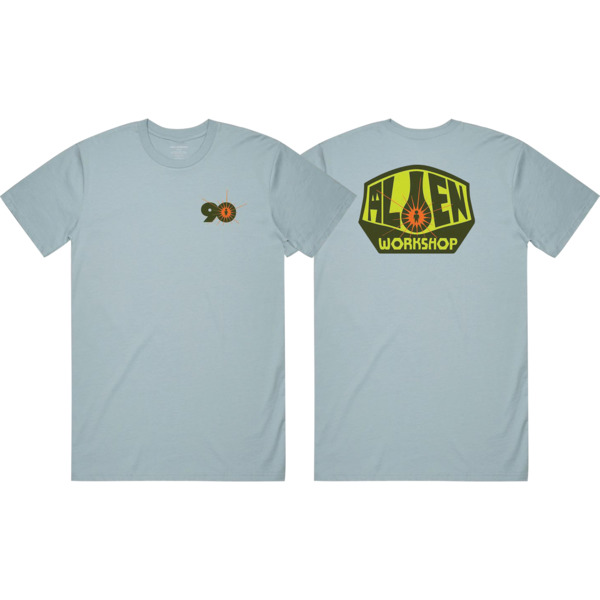 Alien Workshop OG Logo 1990 Light Blue Men's Short Sleeve T-Shirt - Small