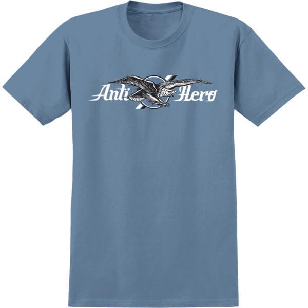 Anti Hero Skateboards Air Mail Slate / Black / White Men's Short Sleeve T-Shirt - Small