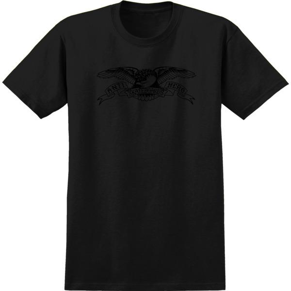 Anti Hero Skateboards Basic Eagle Black / Black Men's Short Sleeve T-Shirt - Small