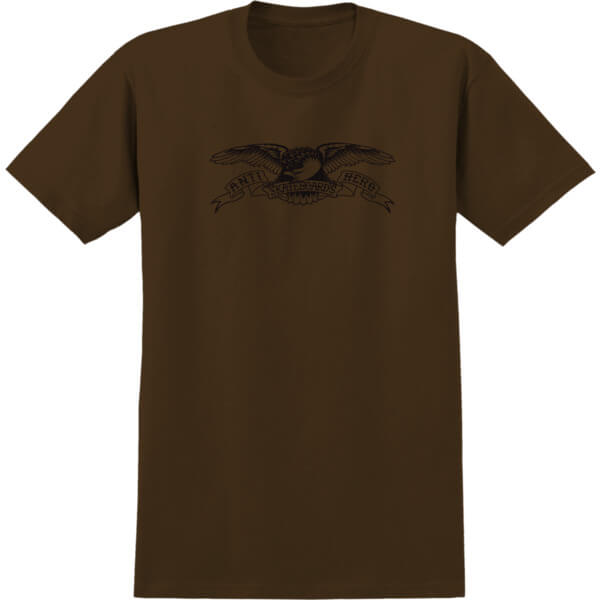 Anti Hero Skateboards Basic Eagle Coffee / Black Men's Short Sleeve T-Shirt - X-Large
