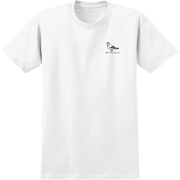 Anti Hero Skateboards Basic Pigeon White / Black Men's Short Sleeve T-Shirt - Large
