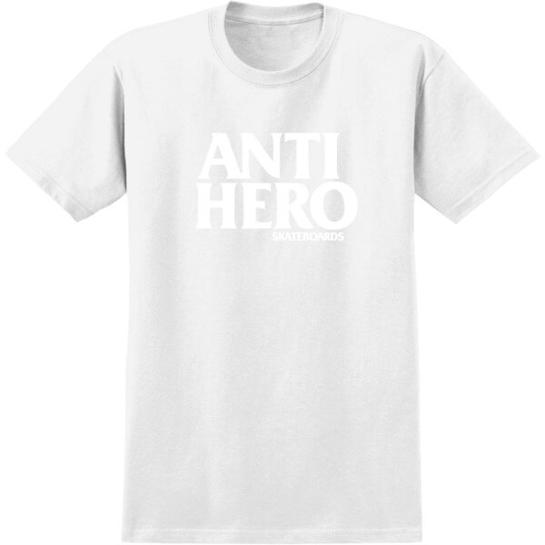 Anti Hero Skateboards Blackhero White Men's Short Sleeve T-Shirt - Small