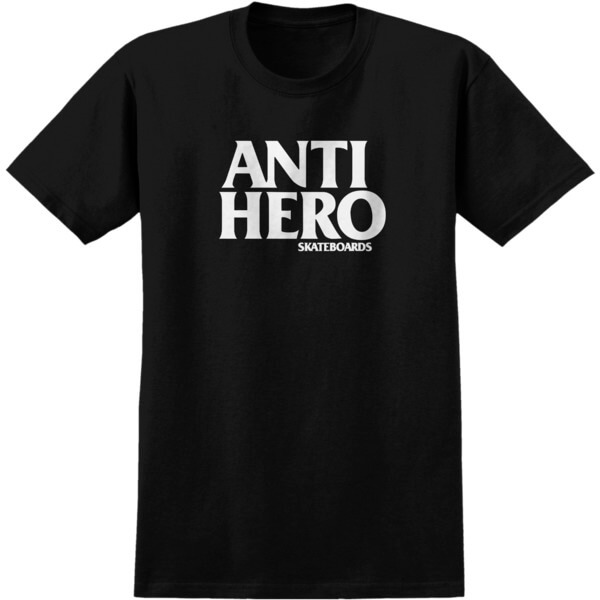 Anti Hero Skateboards Blackhero Black / White Men's Short Sleeve T-Shirt - Large