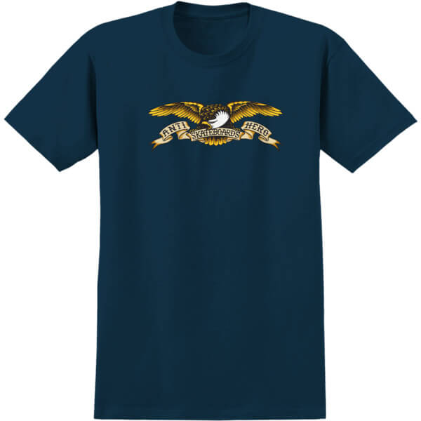 Anti Hero Skateboards Eagle Harbor Blue Men's Short Sleeve T-Shirt - Small
