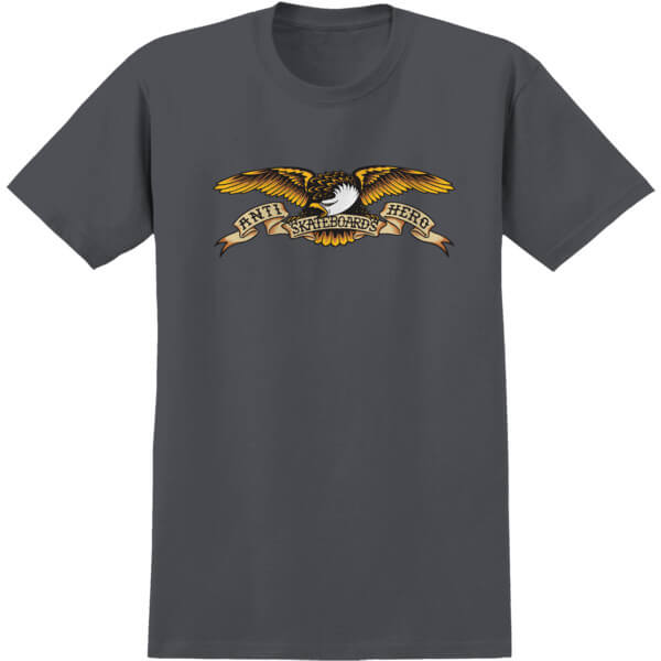Anti Hero Skateboards Eagle Charcoal Heather Men's Short Sleeve T-Shirt - Medium