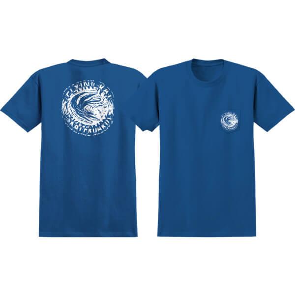 Anti Hero Skateboards Flying Rat Royal Blue Short Sleeve Pocket T-Shirts - X-Large