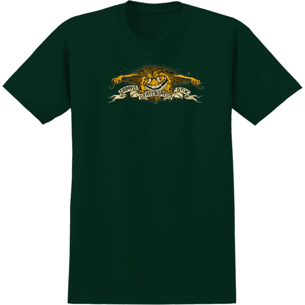 Anti Hero Skateboards Grimple Eagle Forest Green Men's Short Sleeve T-Shirt - X-Large