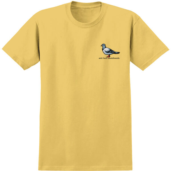 Anti Hero Skateboards Lil Pigeon Squash Yellow Men's Short Sleeve T-Shirt - Large