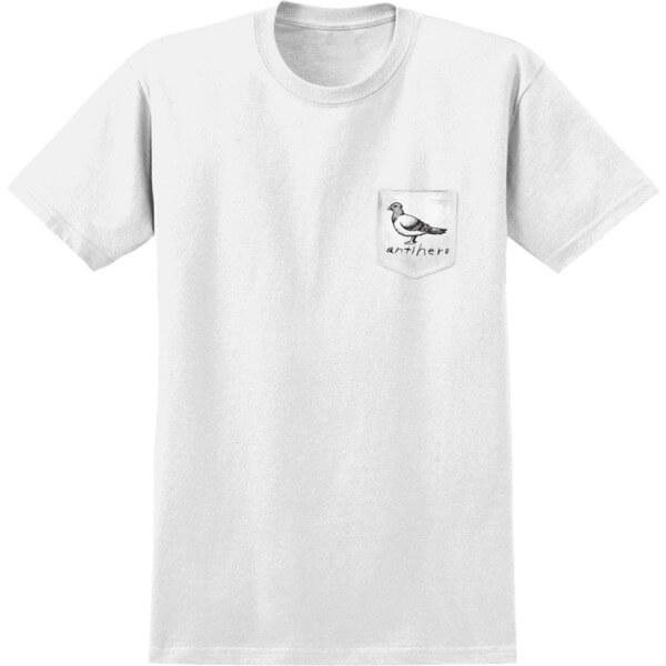 Anti Hero Skateboards Lil OG Pigeon White / Black Short Sleeve Pocket T-Shirts - Large