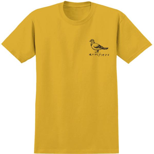 Anti Hero Skateboards OG Pegeon Gold / Black Men's Short Sleeve T-Shirt - Large