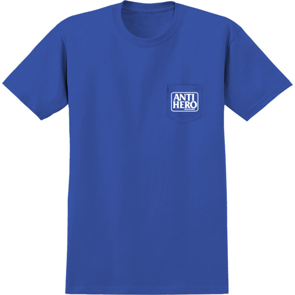 Anti Hero Skateboards Reserve Royal / White Short Sleeve Pocket T-Shirt - X-Large