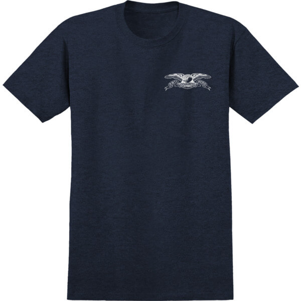 Anti Hero Skateboards Stock Eagle Navy Heather / White Men's Short Sleeve T-Shirt - Medium