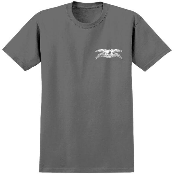 Anti Hero Skateboards Stock Eagle Charcoal / White Men's Short Sleeve T-Shirt - Large