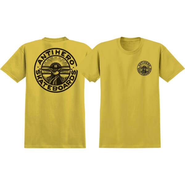 Anti Hero Skateboards Stay Ready Mustard / Black Men's Short Sleeve T-Shirt - X-Large