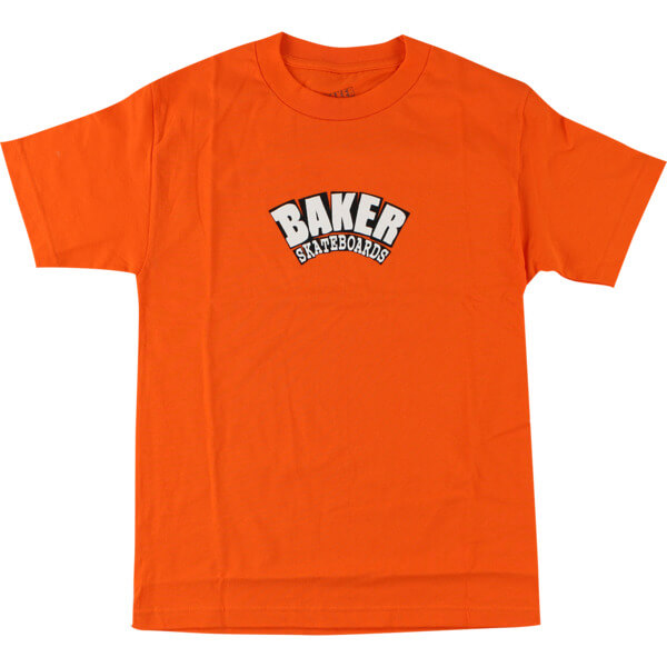 Baker Skateboards Arch Orange Men's Short Sleeve T-Shirt - Large
