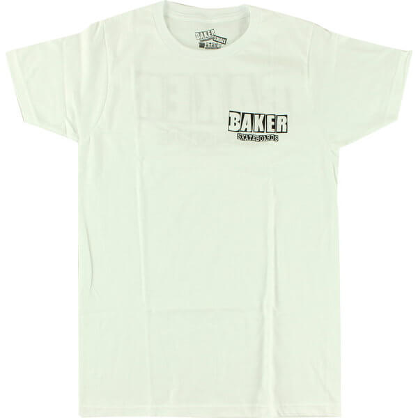 Baker Skateboards Brand Logo Dubs White Men's Short Sleeve T-Shirt - Large