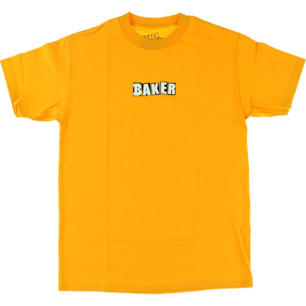 Baker Skateboards Brand Logo Gold Men's Short Sleeve T-Shirt - Medium