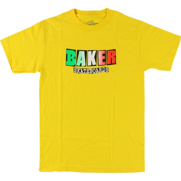 Baker Skateboards Nacional Yellow Men's Short Sleeve T-Shirt - Large